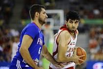 Basketbalisté Francie v zápase MS proti Íránu