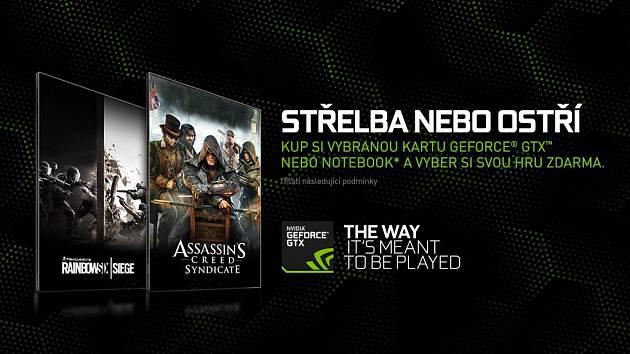 Nvidia akce na hry zdarma.