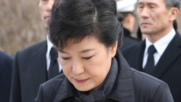 Jihokorejská prezidentka Pak Kun-hje.