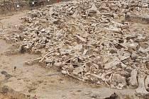 Kruh z mamutích kostí na sibiřské planině