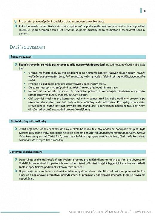 Manuál pro výuku na školách v době koronaviru - strana 8