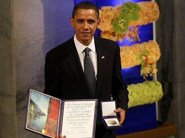 Nový držitel Nobelovy ceny za mír - americký prezident Barrack Obama