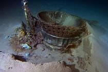 Raketový motor F-1 z vesmírné lodi Apollo 11.