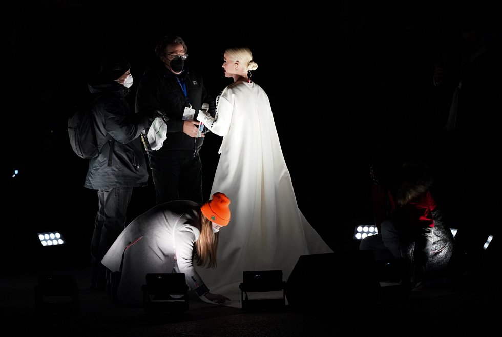 Katy Perry na slavnosti spojené s  uvedením Joe Bidena do prezidentského úřadu.
