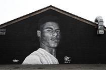 Marcus Rashford zvěčněný na malbě umělce Akse P19.
