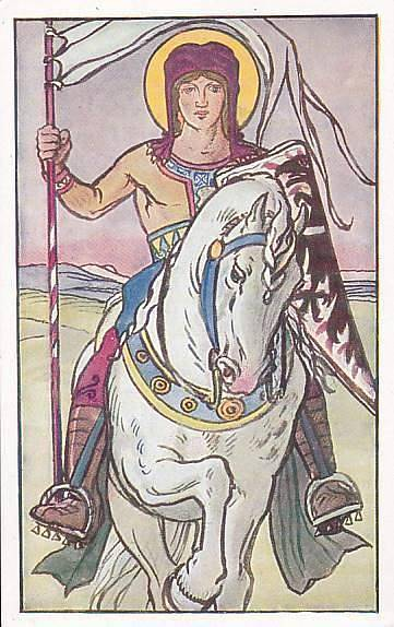 Svatý Václav v dobovém kalendáři z 19. století