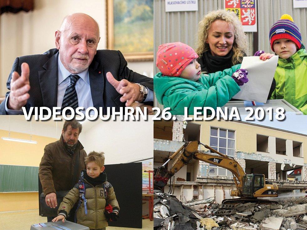 Videosouhrn Deníku – pátek 26. ledna 2018