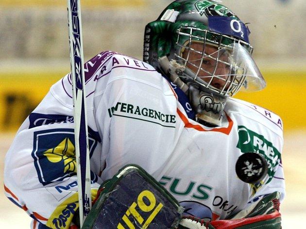 Brankář Kladna Miroslav Kopřiva je jedním z nováčků v hokejové reprezentaci.
