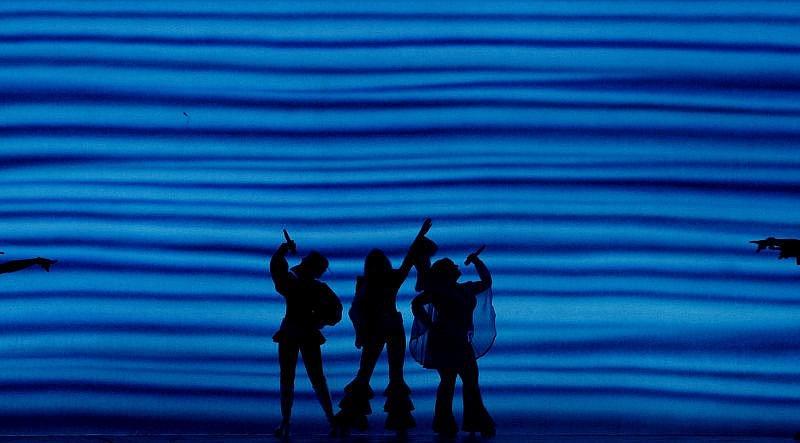 Odpolední generální zkouška muzikálu Mamma Mia proběhla 22. září v pražské O2 Areně.