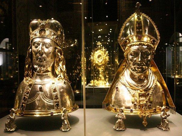 Svatovítský poklad, chlouba české historie, je vystaven na Pražském hradě.