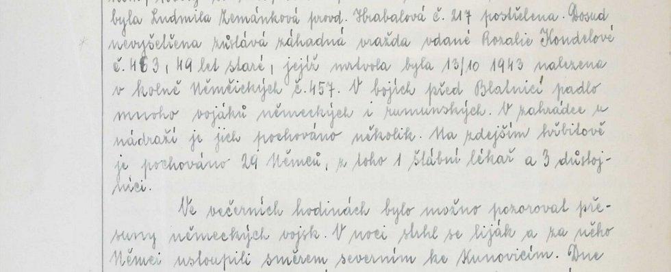 V bojích před Blatnicí padlo mnoho rumunských i německých vojáků. Přesto místní nezapomínali ani na záhadnou a nevyřešenou vraždu z roku 1943