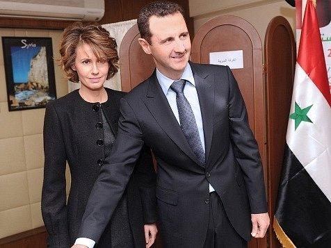 Syrský prezident Bašár Asad s manželkou Asmou