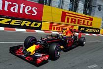 Daniel Ricciardo v kvalifikaci na Velkou cenu Monaka.