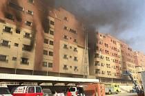Požár ubytovny v Saudské Arábii