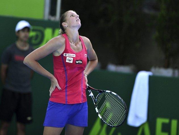 Karolína Plíšková na turnaji v Monterrey.