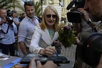 Na filmový festival do Karlových Varů přijela 4. července 2019 americká herečka Patricia Clarksonová.