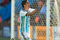 Argentina - Švýcarsko: Angel di María slaví jediný gól zápasu