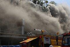 Požár hotelu v hlavním městě Filipín Manile