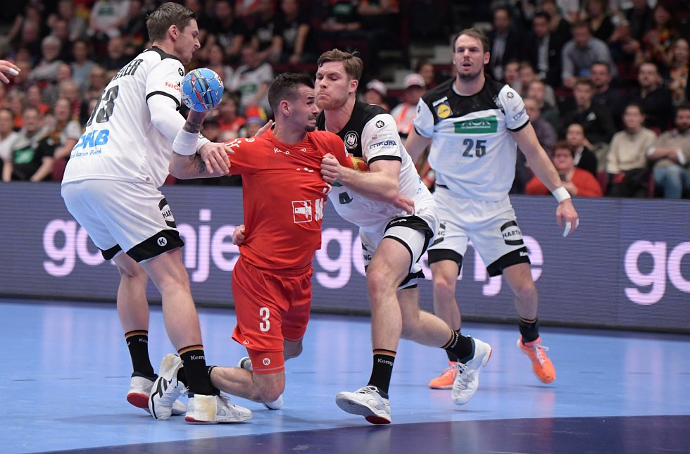 Mistrovství Evropy v házené 2020. Utkání Česko - Německo
