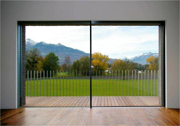 Hliníkové rámy se hodí pro velké prosklené plochy