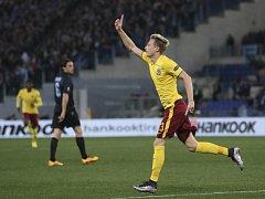 Ladislav Krejčí a jeho radost z gólu