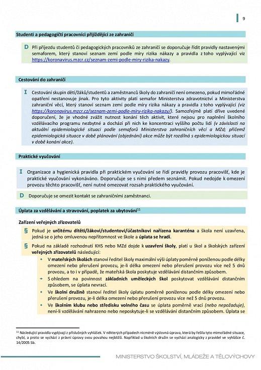 Manuál pro výuku na školách v době koronaviru - strana 9