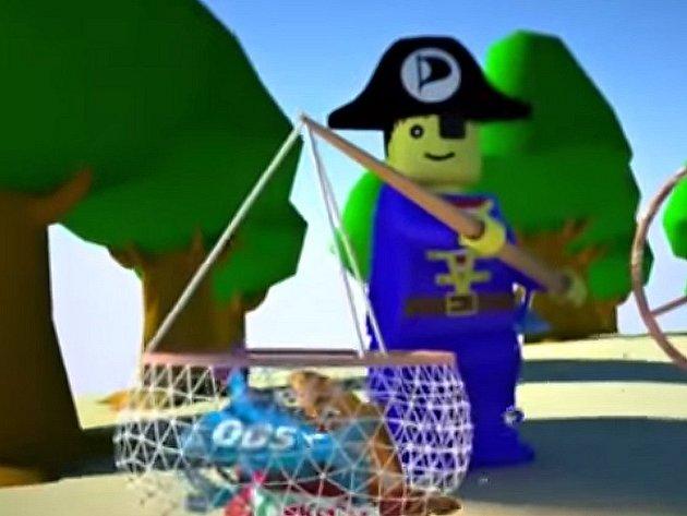 Z předvolebního klipu Pirátské strany.