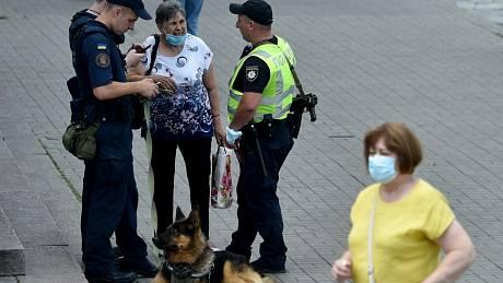 Kontroly v ukrajinském Kyjevě