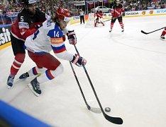 Viktor Tichonov při finále mistrovství světa v Praze