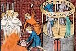Mučení a popravy čarodějnic ve středověkých iluminacích
