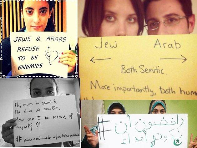 Internetová kampaň ukazuje, že Židé a Arabové mohou být přáteli.