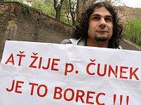 Demonstrace na podporu Jiřího Čunka
