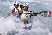 Deblkanoisté Jaroslav Volf (vpravo) a Ondřej Štěpánek na olympijských hrách v Londýně.