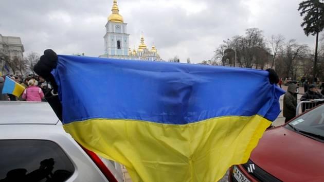 Protivládní demonstrace na Ukrajině