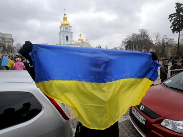 Protesty na Ukrajině.