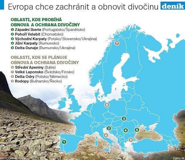 Evropa chce zachránit a obnovit divočinu.