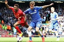 Tomáš Kalas v zápase proti Liverpoolu
