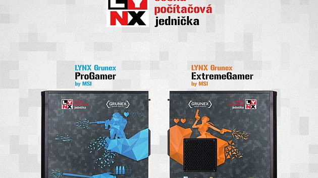 Počítače Lynx Grunex ProGamer a ExtremeGamer.