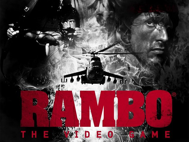 První plakát na počítačovou hru Rambo.