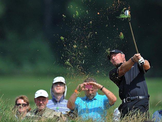 Alex Čejka otvíral na Zbraslavi nové golfové hřiště.
