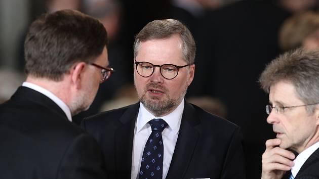 Inaugurace Miloše Zemana. Na snímku Petr Fiala.
