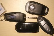 Klíčky od automobilů