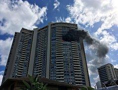 Požár v budově Marco Polo na Honolulu