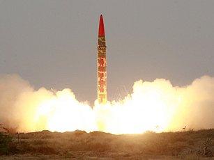 Po raketě Šahín (na obrázku) následoval test balistické střely Ghaurí.
