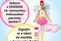 soutěžte s Deníkem o panenku Barbie