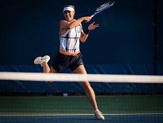 Maria Šarapovová během tréninku na US Open