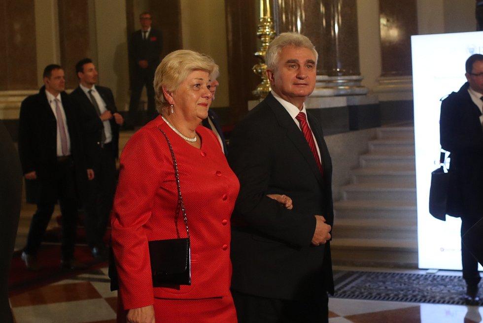 Slavnostní otevření Národního muzea v Praze. Milan Štěch.