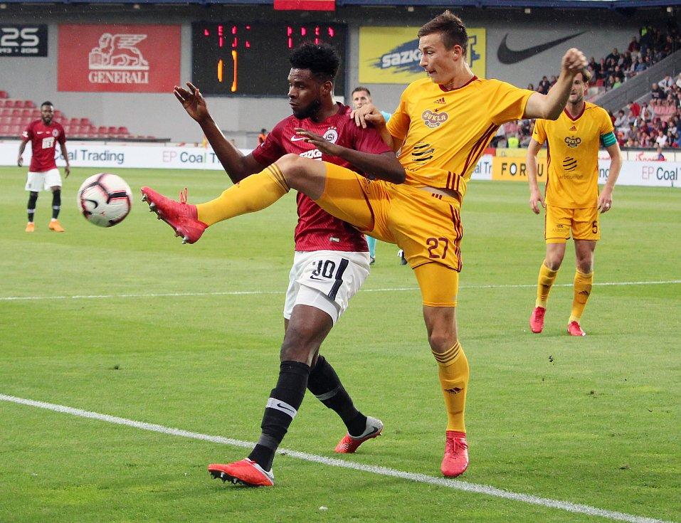 Úvodní zápas 7. kola FORTUNA:LIGY Sparta Praha - Dukla Praha Benjamin Tetteh - Dominik Preisler