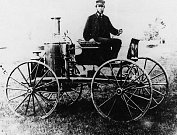 Ukázka automobilu s parním pohonem, Sylvester Roper a jeho vůz vyrobený před rokem 1870