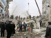 Na jihu Ukrajiny se po výbuchu zřítil dům.